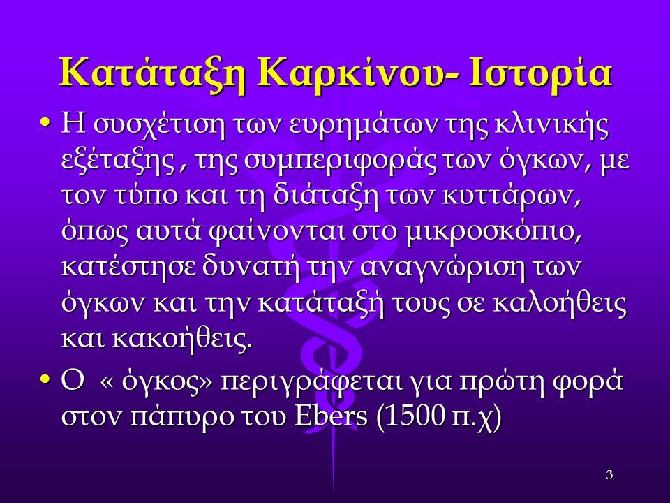 Ιστορικά στοιχεία Ο Ιπποκράτης (460-375 π.χ) αναφέρεται σε «μορφώματα».