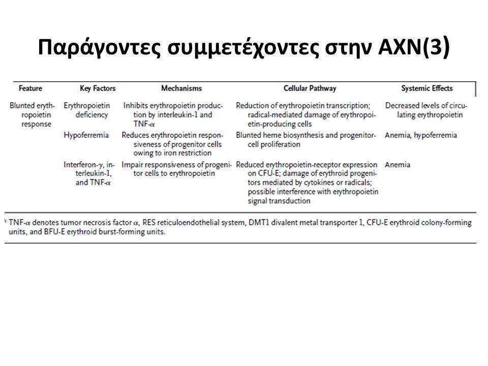 Παράγοντες συμμετέχοντες στην ΑΧΝ(3 )