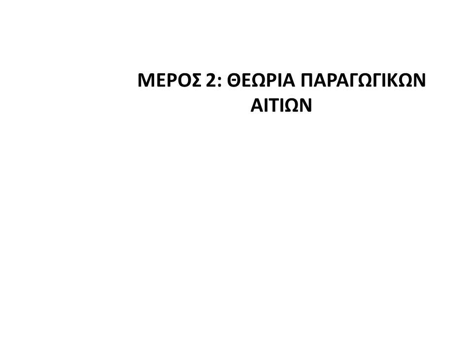 ΜΕΡΟΣ 2: ΘΕΩΡΙΑ ΠΑΡΑΓΩΓΙΚΩΝ ΑΙΤΙΩΝ