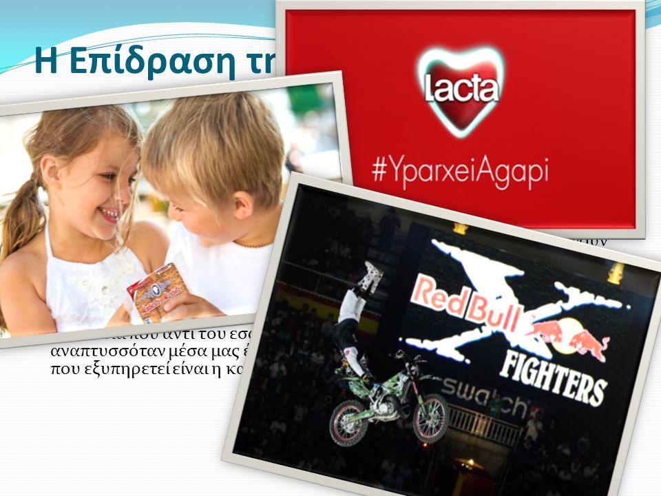 Η Επίδραση της Διαφήμισης Η διαφήμιση χρησιμοποιεί την πειθώ.