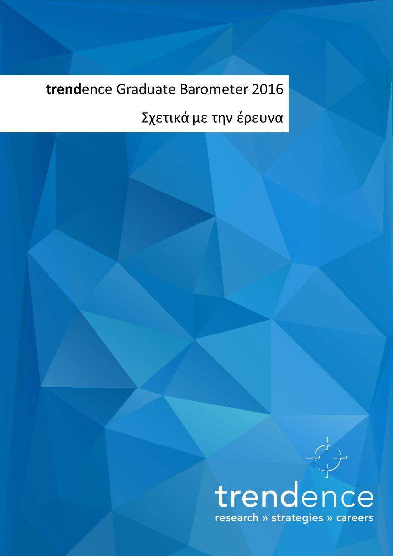 trendence Graduate Barometer 2016 Σχετικά με την έρευνα