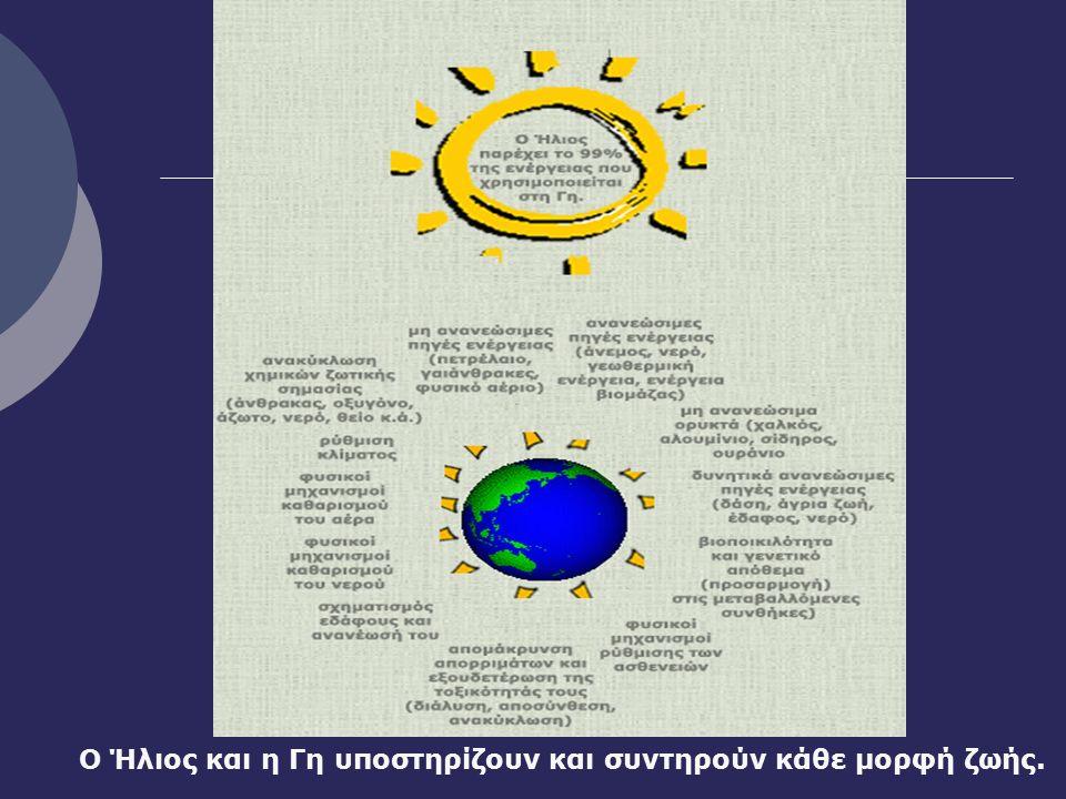 Ο Ήλιος και η Γη υποστηρίζουν και συντηρούν κάθε μορφή ζωής.