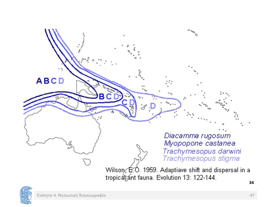 Ενότητα 4. Νησιωτική Βιογεωγραφία47 34