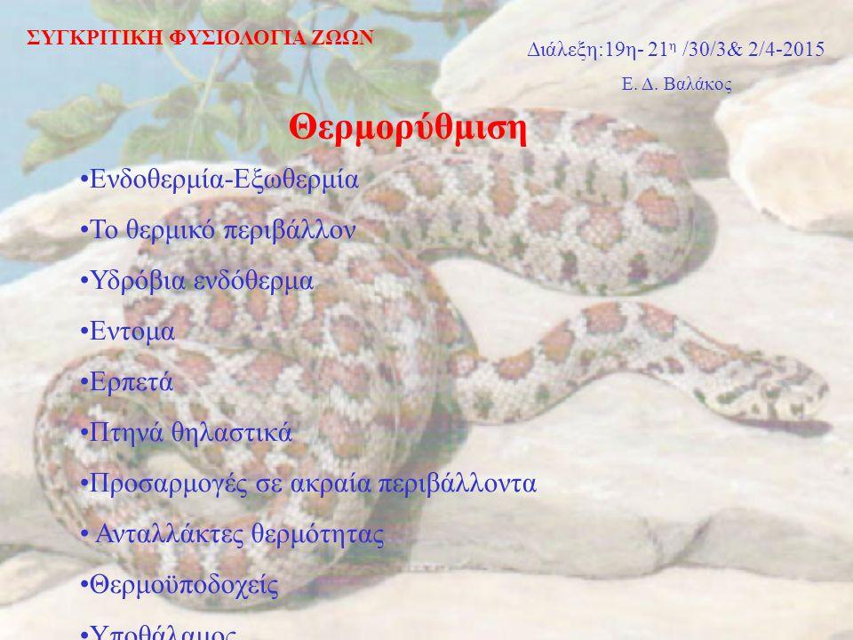 Έντομα & Αρθρόποδα Θερμορύθμιση