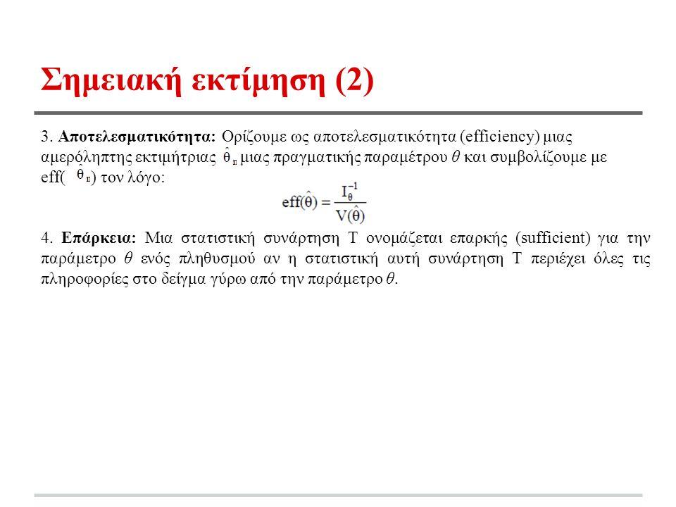 Σημειακή εκτίμηση (2) 3.