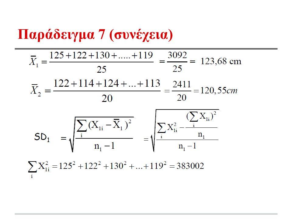 Παράδειγμα 7 (συνέχεια)