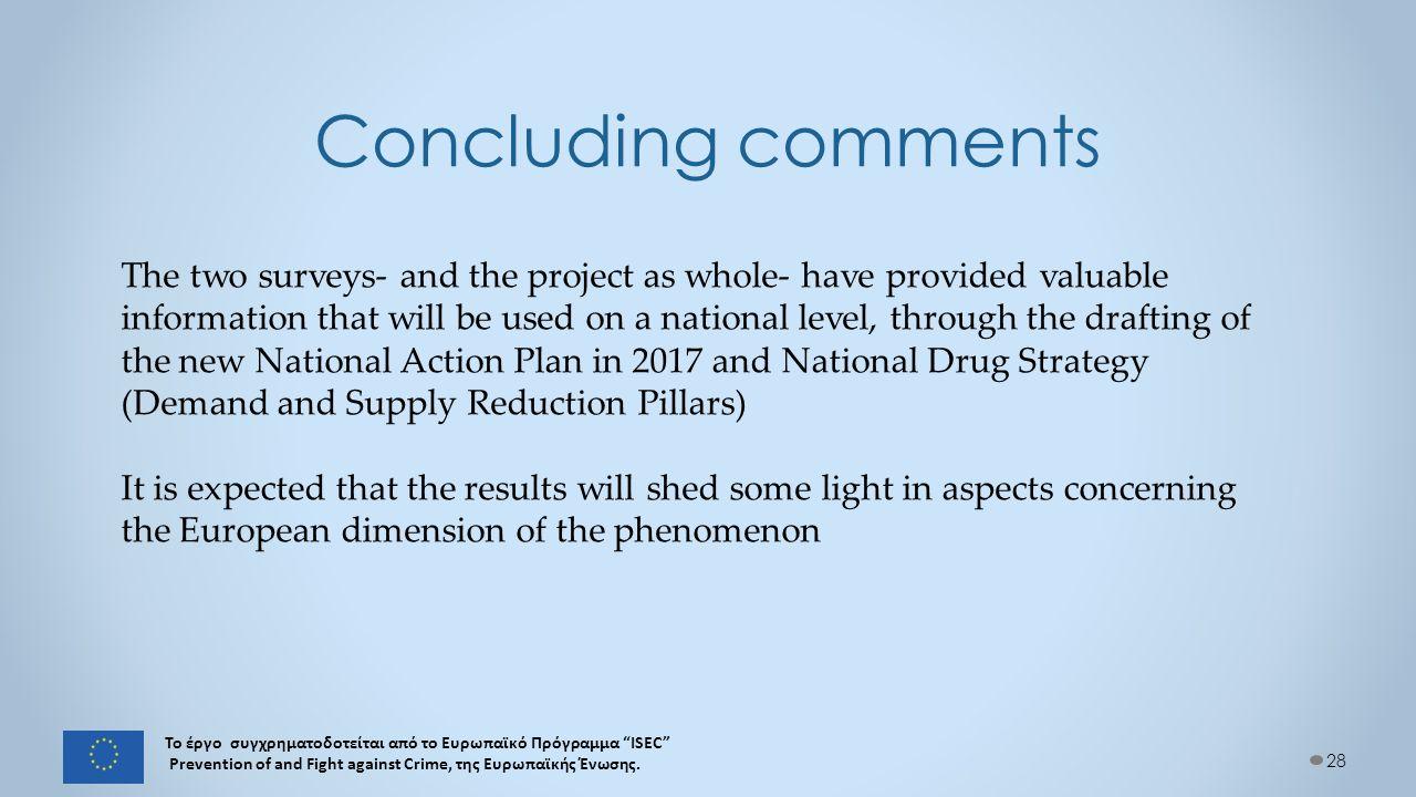 28 Το έργο συγχρηματοδοτείται από το Ευρωπαϊκό Πρόγραμμα ISEC Prevention of and Fight against Crime, της Ευρωπαϊκής Ένωσης.