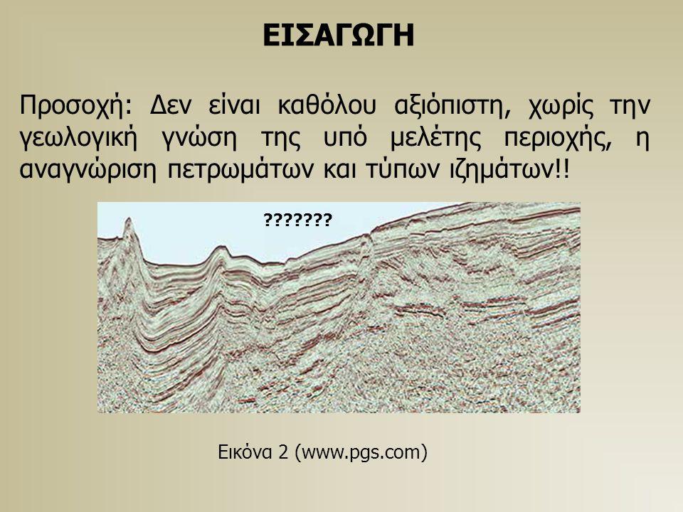 ΕΙΣΑΓΩΓΗ Προσοχή: Δεν είναι καθόλου αξιόπιστη, χωρίς την γεωλογική γνώση της υπό μελέτης περιοχής, η αναγνώριση πετρωμάτων και τύπων ιζημάτων!! Εικόνα