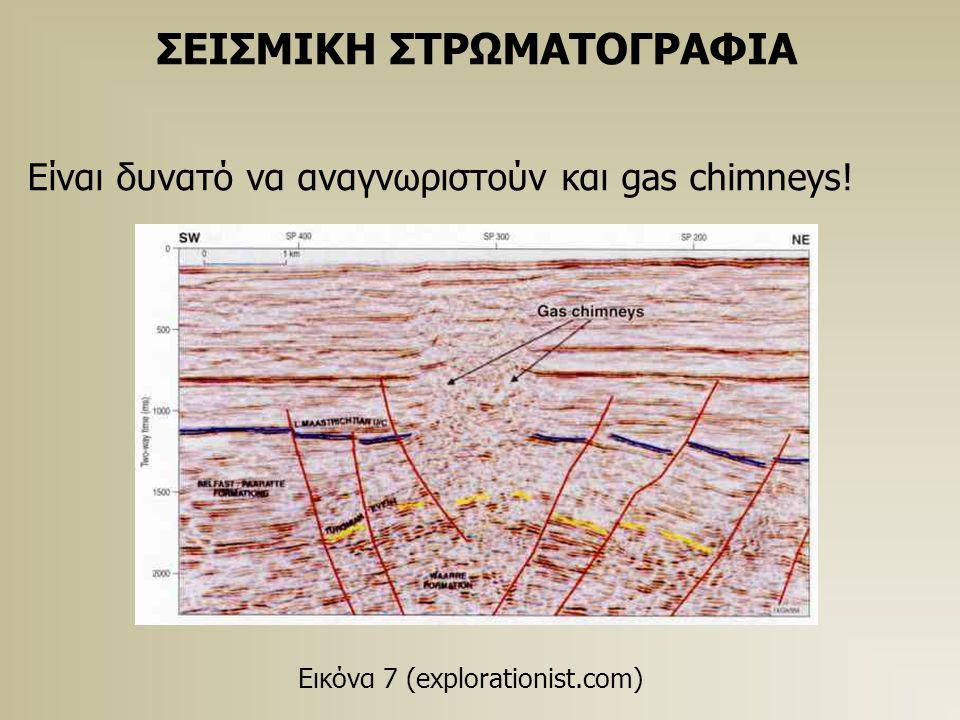 ΣΕΙΣΜΙΚΗ ΣΤΡΩΜΑΤΟΓΡΑΦΙΑ Είναι δυνατό να αναγνωριστούν και gas chimneys.