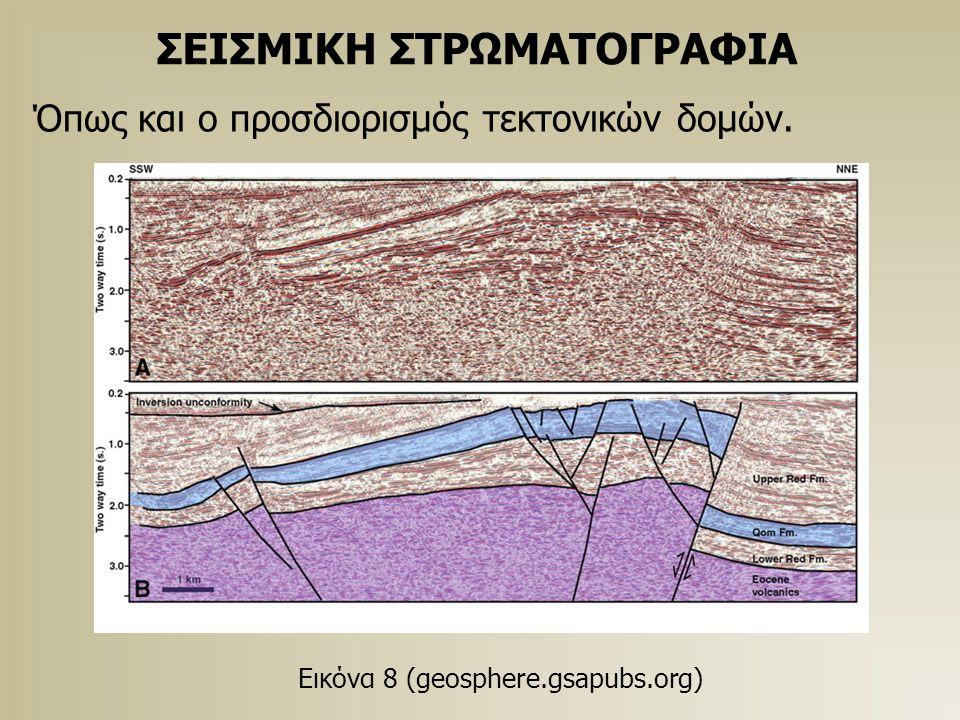 ΣΕΙΣΜΙΚΗ ΣΤΡΩΜΑΤΟΓΡΑΦΙΑ Όπως και ο προσδιορισμός τεκτονικών δομών. Εικόνα 8 (geosphere.gsapubs.org)