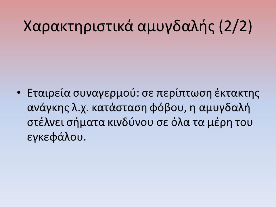 Χαρακτηριστικά αμυγδαλής (2/2) Εταιρεία συναγερμού: σε περίπτωση έκτακτης ανάγκης λ.χ.