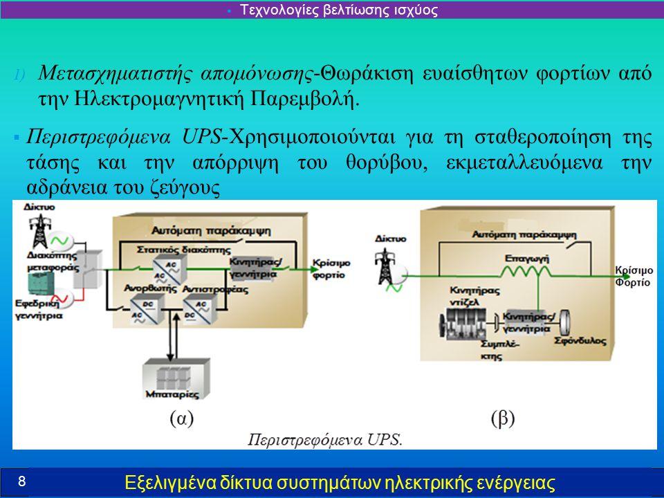 Εξελιγμένα δίκτυα συστημάτων ηλεκτρικής ενέργειας  Σύστημα πολύ υψηλής αξιοπιστίας με διπλό ζυγό σύνδεσης ΣΡ  Χρησιμοποιούνται ΔΠ ως κύρια πηγή παροχής ισχύος, με το δίκτυο ως εφεδρική τροφοδοσία και χωρίς σύνδεση κατά την κανονική λειτουργία.