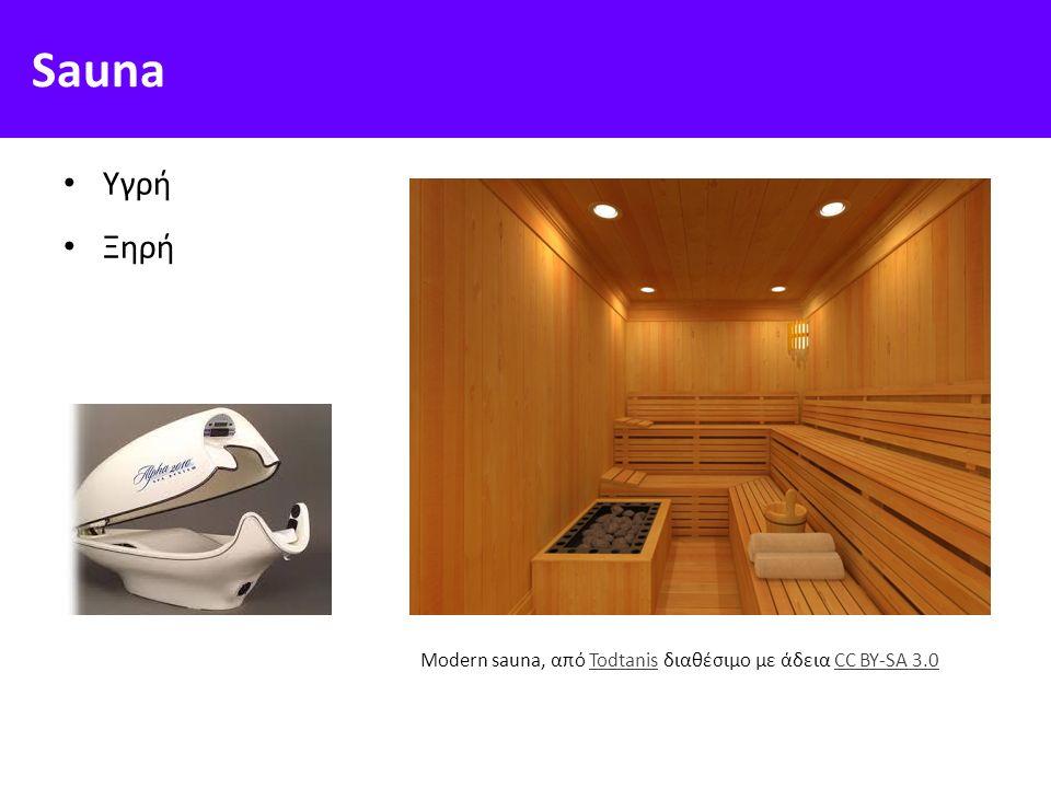 Sauna Υγρή Ξηρή Modern sauna, από Todtanis διαθέσιμο με άδεια CC BY-SA 3.0TodtanisCC BY-SA 3.0