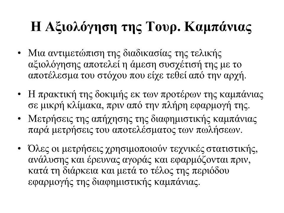 Η Αξιολόγηση της Τουρ.