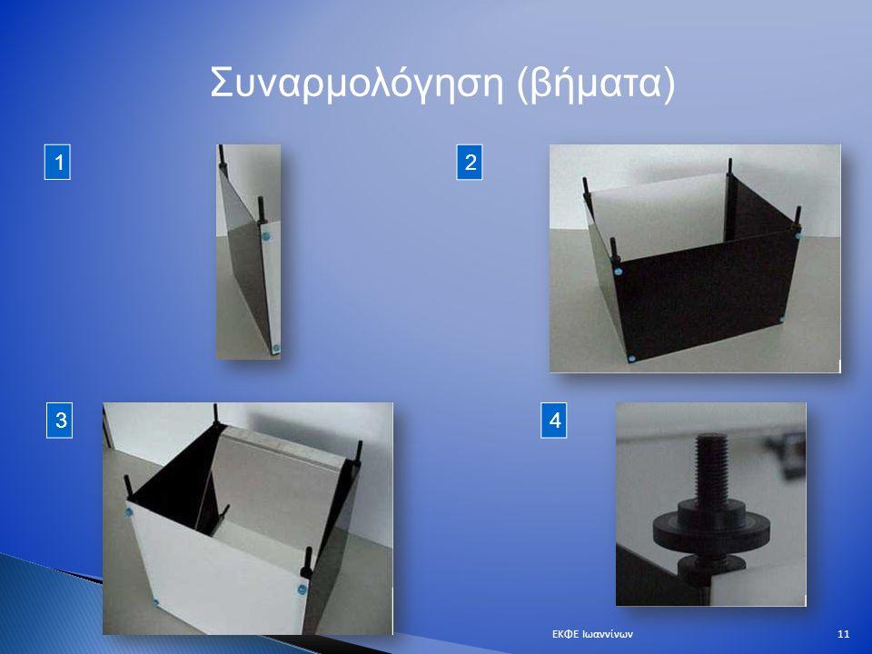 Συναρμολόγηση (βήματα) 1 2 34 11ΕΚΦΕ Ιωαννίνων