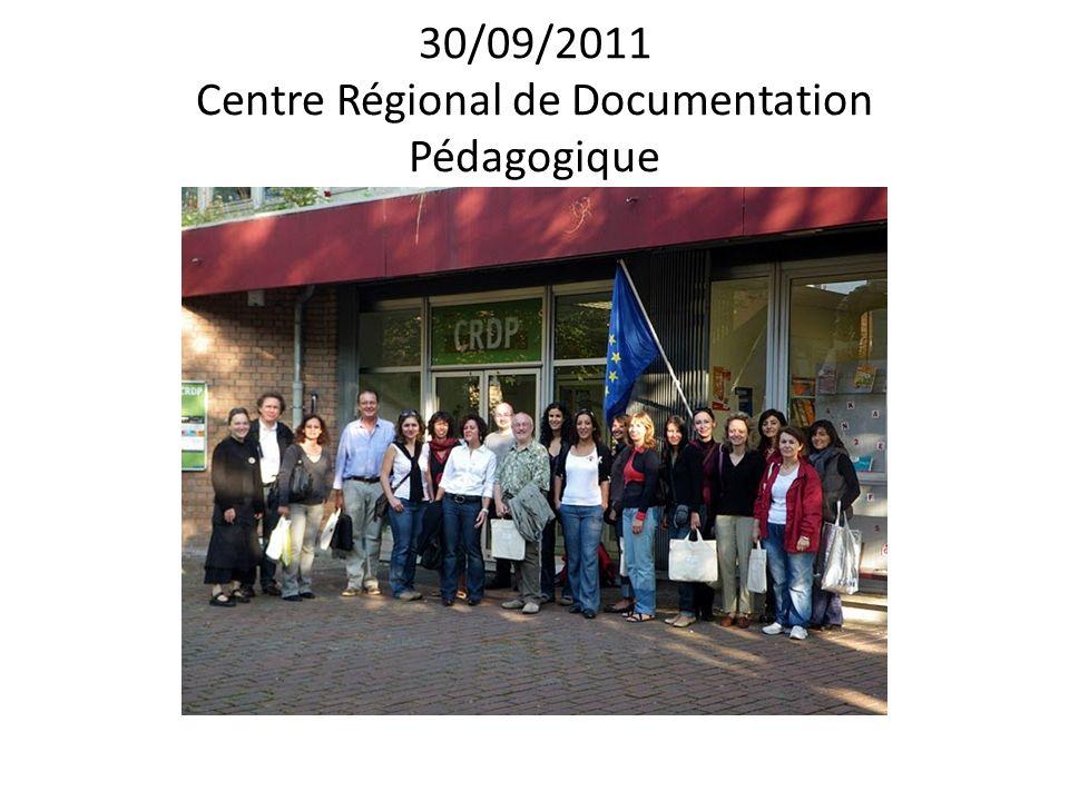 30/09/2011 Centre Régional de Documentation Pédagogique