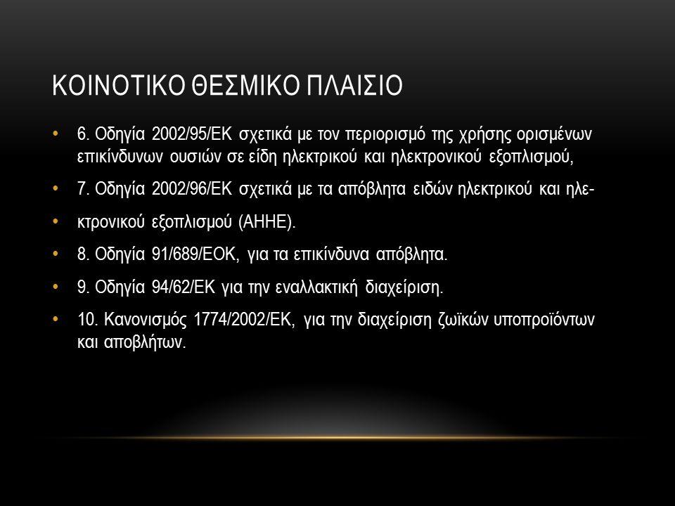 ΚΟΙΝΟΤΙΚΟ ΘΕΣΜΙΚΟ ΠΛΑΙΣΙΟ 6.