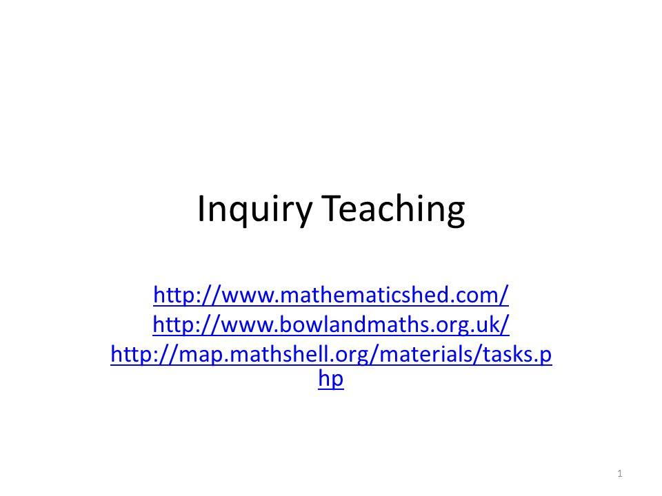 Μια μαθηματική διερεύνηση (inquiry problem) Είναι ανοιχτό-κλειστη, δηλαδή επιδέχεται πολλαπλές αποδεκτές λύσεις Επιδέχεται πολλαπλές στρατηγικές προσέγγισης Εστιάζει σε ένα σημαντικό μαθηματικό περιεχόμενο Απαιτεί διερεύνηση πολλών παραμέτρων (what if…) Ευνοείται με τη δουλειά σε ομάδεςΕΡΓΑΣΙΑ Φτιάξτε μια δική σας μαθηματική διερεύνηση Τα βήματα μιας μαθηματικής διερεύνησης Κατανοώ το πρόβλημα.