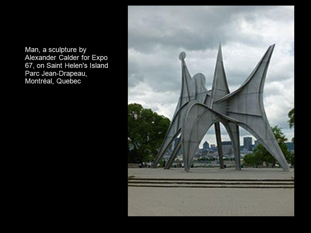 Man, a sculpture by Alexander Calder for Expo 67, on Saint Helen's Island Parc Jean-Drapeau, Montréal, Quebec