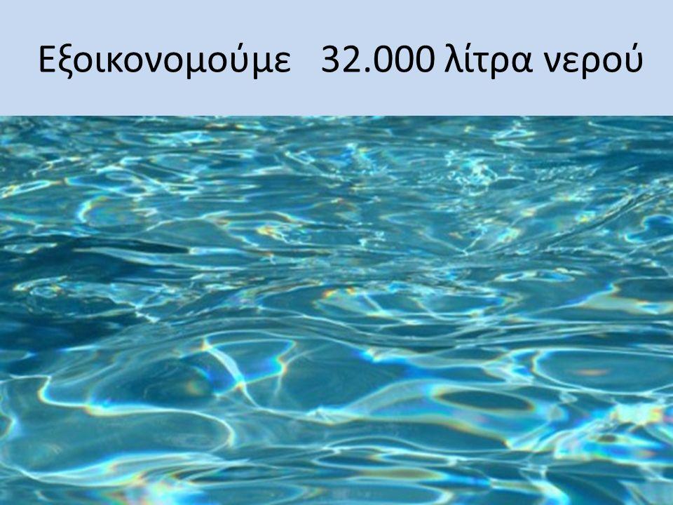 Εξοικονομούμε 32.000 λίτρα νερού