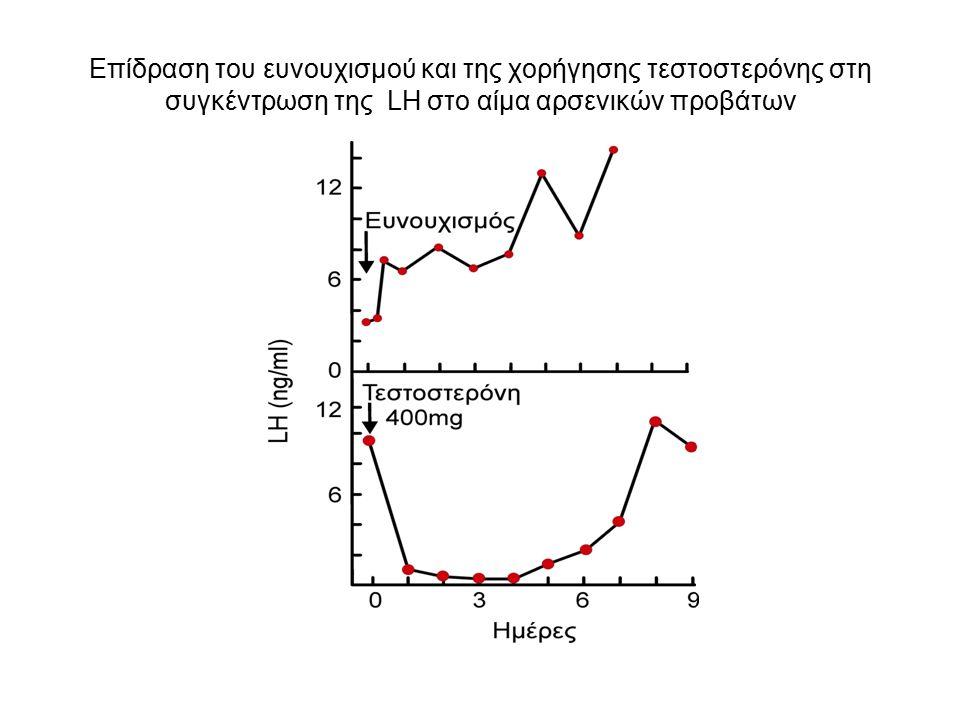 Επίδραση του ευνουχισμού και της χορήγησης τεστοστερόνης στη συγκέντρωση της LH στο αίμα αρσενικών προβάτων