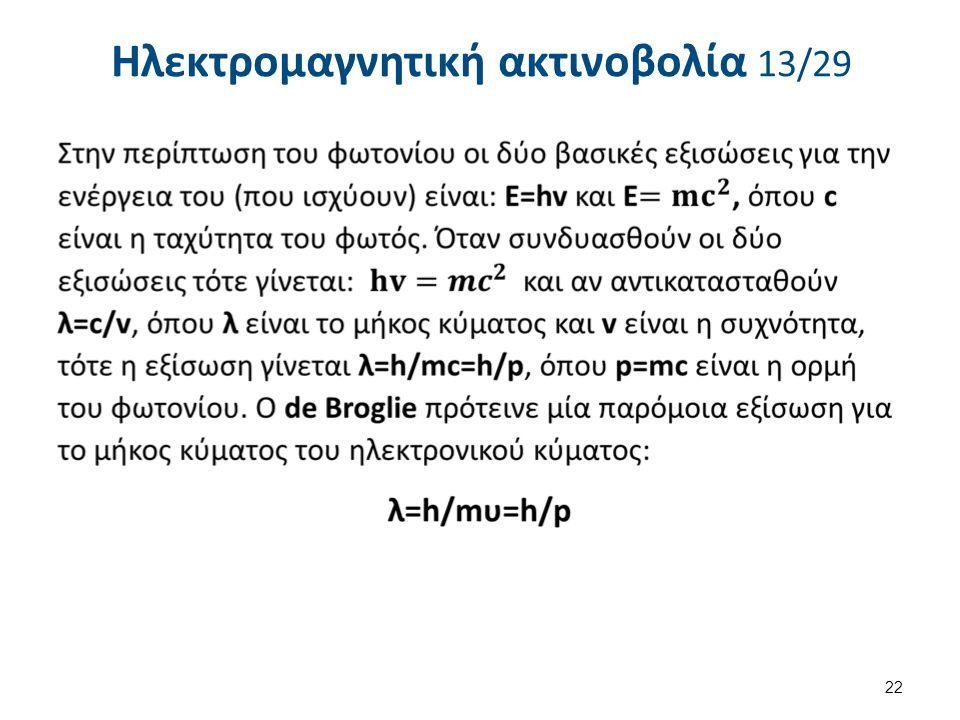 Ηλεκτρομαγνητική ακτινοβολία 13/29 22