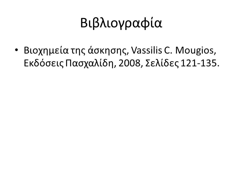 Βιβλιογραφία Βιοχημεία της άσκησης, Vassilis C. Mougios, Eκδόσεις Πασχαλίδη, 2008, Σελίδες 121-135.