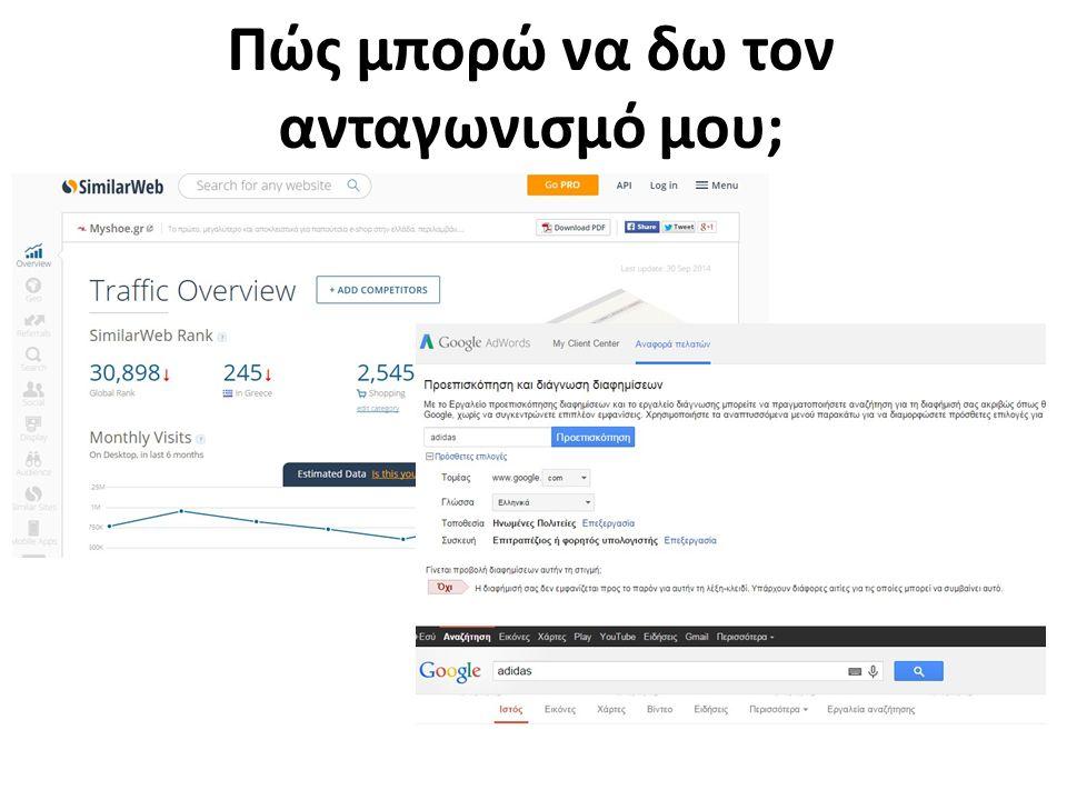 Πώς μπορώ να δω τον ανταγωνισμό μου; Google… and more…