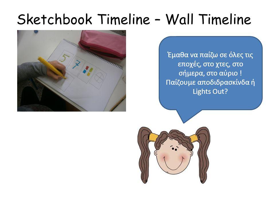 Sketchbook Timeline – Wall Timeline Έμαθα να παίζω σε όλες τις εποχές, στο χτες, στο σήμερα, στο αύριο .