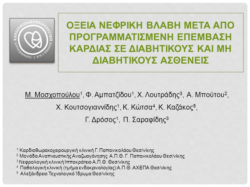 ΕΠΙΔΗΜΙΟΛΟΓΙΑ Επίπτωση ΟΝΒ: 3-30% AKIN / KDIGO:20-25% RIFLE :22-30% Ανάγκη Αιμοκάθαρσης: 1-5% Ενδονοσοκομειακή θνησιμότητα (30 ημέρες): 12,8% στους ασθενείς με ΟΝΒ (4% στο σύνολο) ↑ Κρεατινίνης ≥0,5mg/dl (48 ώρες μετεγχ/κά) : ↑ 6% κινδύνου Διαφορετικοί Ορισμοί ΟΝΒ Ανομοιογένεια Αποτελεσμάτων Englberger L, et al.