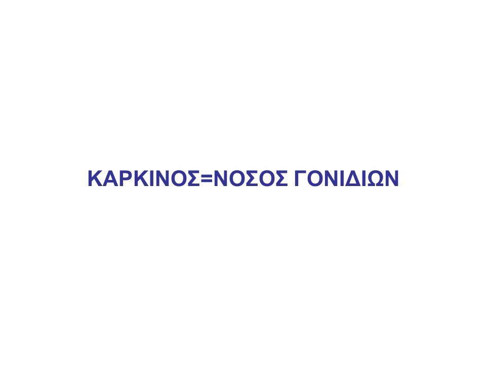 ΚΑΡΚΙΝΟΣ=ΝΟΣΟΣ ΓΟΝΙΔΙΩΝ