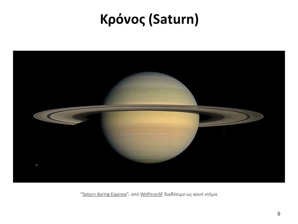 Κρόνος (Saturn) 9 Saturn during Equinox , από WolfmanSF διαθέσιμο ως κοινό κτήμαSaturn during EquinoxWolfmanSF