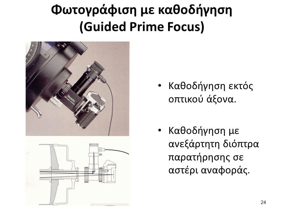 Φωτογράφιση με καθοδήγηση (Guided Prime Focus) Καθοδήγηση εκτός οπτικού άξονα.