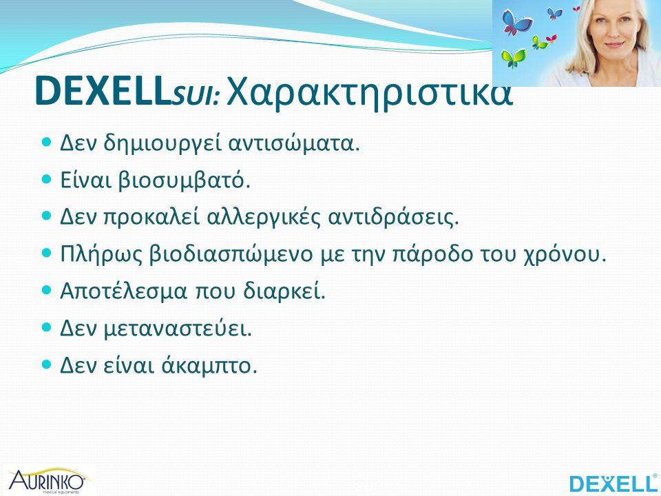 DEXELL SUI: Χαρακτηριστικά Δεν δημιουργεί αντισώματα.