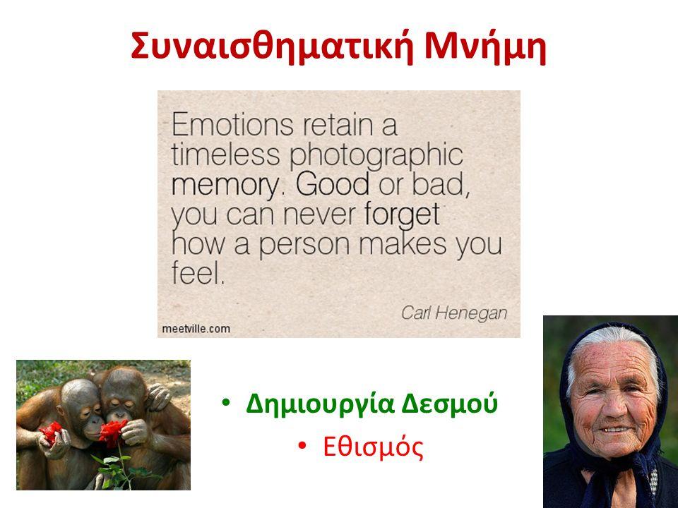 Συναισθηματική Μνήμη Δημιουργία Δεσμού Εθισμός