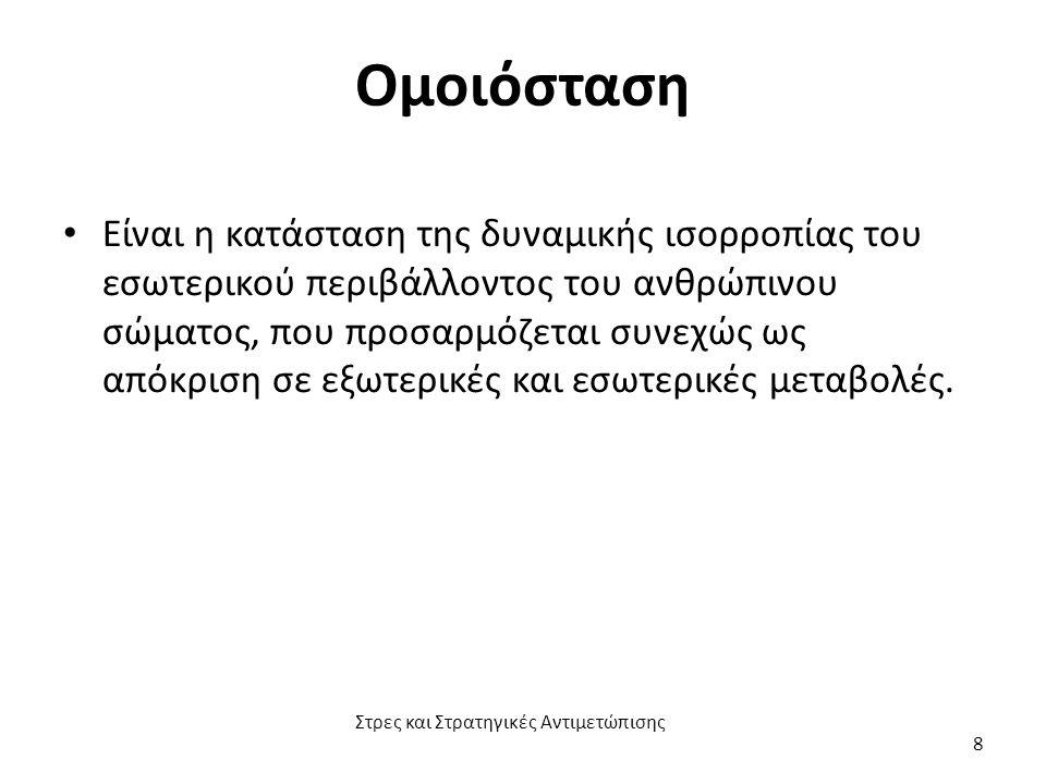 Στρεσογόνος παράγοντας (α) Στρεσογόνος παράγοντας είναι ότι διαταράσσει την ομοιόσταση του ατόμου.