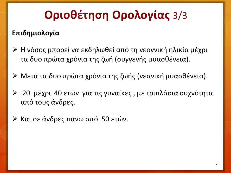  Αντισώματα του οργανισμού καταστρέφουν τους υποδοχείς της Ακετυλοχολίνης.