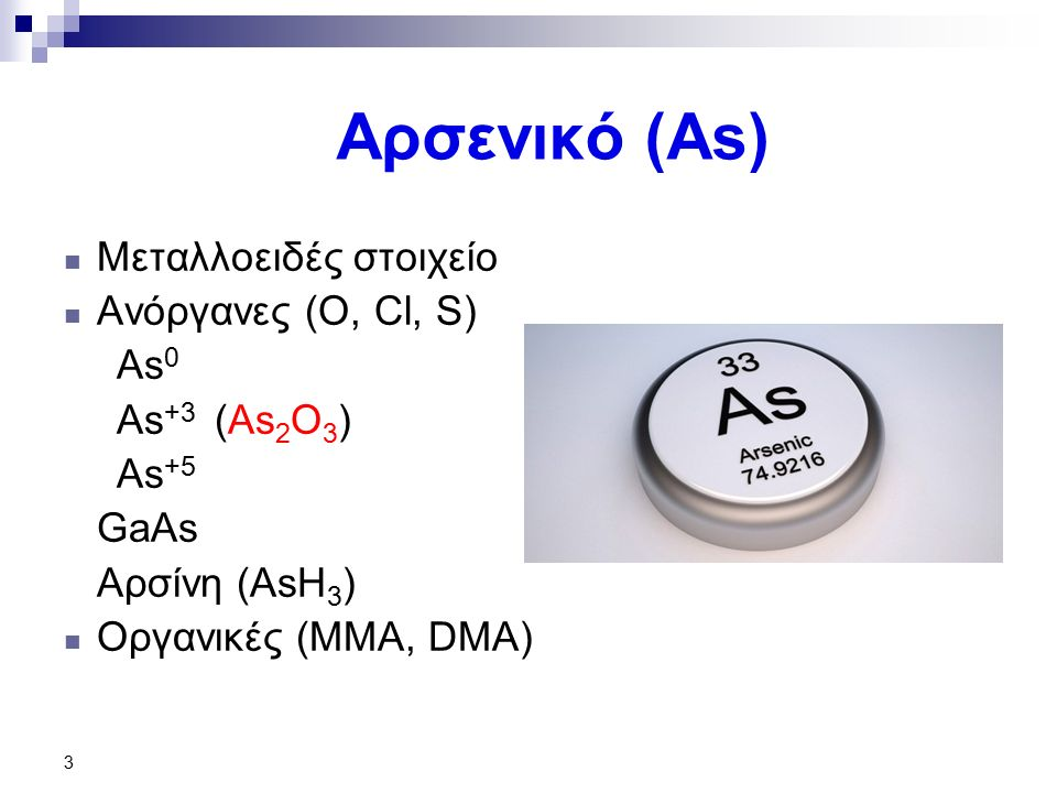 34 Νικέλιο (Ni) Ορυκτά  Πετλανδίτης - (NiFe)S  Νικελίτης - NiAs  Νικελοπυρίτης- NiS  Γαρνιερίτης Ενώσεις με τοξικολογικό ενδιαφέρον Οξείδιο Νικελίου Μυρμηκικό νικέλιο Θειϊκό νικέλιο Καρβονύλιο του νικελίου