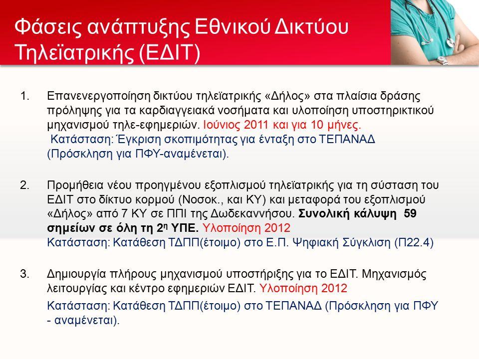 Ένα δίκτυο μονάδων τηλεϊατρικής, το οποίο αναπτύσσεται τόσο στα απομακρυσμένα σημεία όσο και στα μεγάλα νοσοκομεία της ελληνικής επικράτειας.