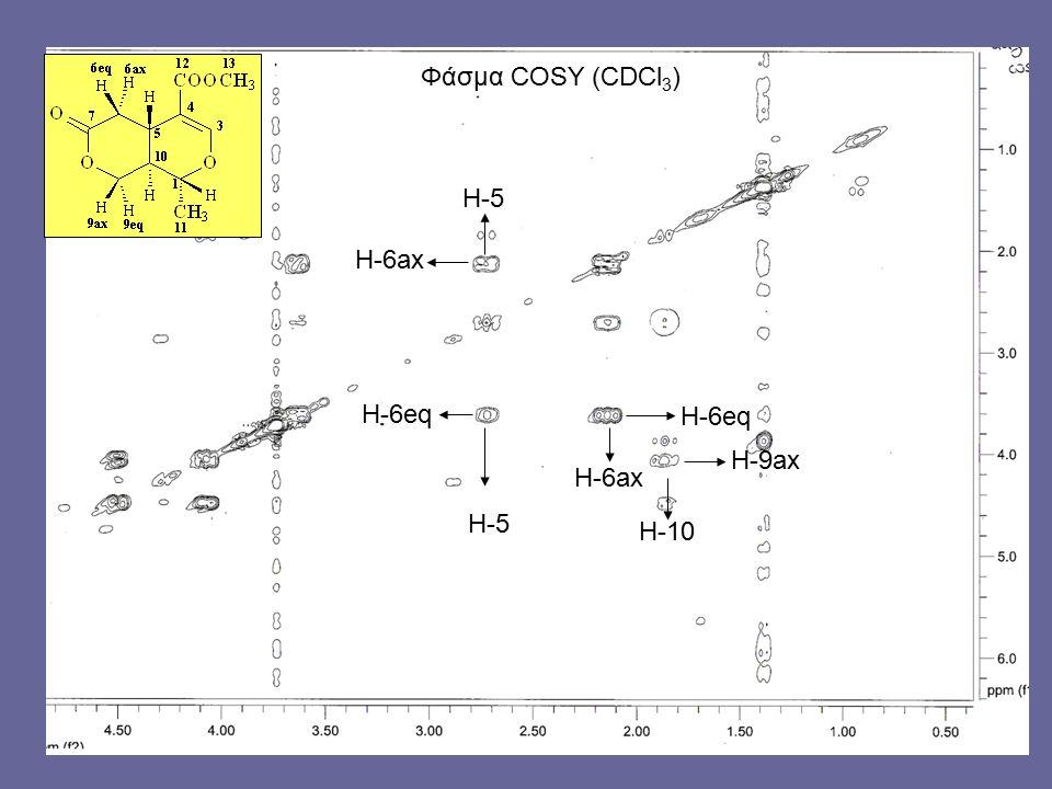 H-5 H-6ax H-6eq H-5 H-6ax H-9ax H-10 Φάσμα COSY (CDCl 3 )