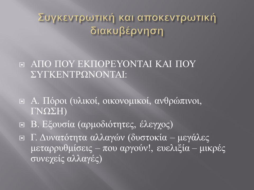  ΚΡΑΤΟΣ ( κεντρικό και τοπικό / τοπική αυτοδιοίκηση )  ΕΠΑΓΓΕΛΜΑΤΙΕΣ ΕΚΠΑΙΔΕΥΤΙΚΟ Ι ( συνδικάτα εκπαιδευτικών, επιστημονικοί – ερευνητικοί φορείς )  ΓΟΝΕΙΣ – ΜΑΘΗΤΕΣ  ΚΟΙΝΩΝΙΚΟΙ ΕΤΑΙΡΟΙ & ΑΓΟΡΑ ( Συνδικάτα, Κορπορατιστικά συμφέροντα, ομάδες συμφερόντων, χώρος των επιχειρήσεων, εκκλησία...
