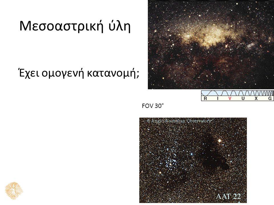 Μεσοαστρική ύλη Έχει ομογενή κατανομή; FOV 30°