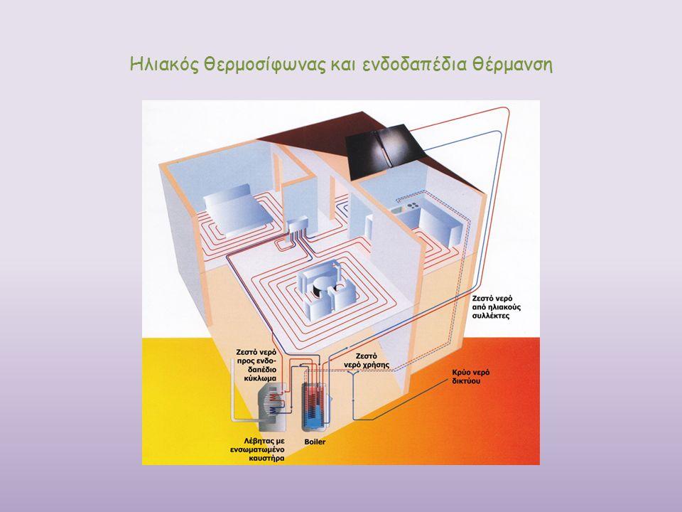 Ηλιακός θερμοσίφωνας και ενδοδαπέδια θέρμανση