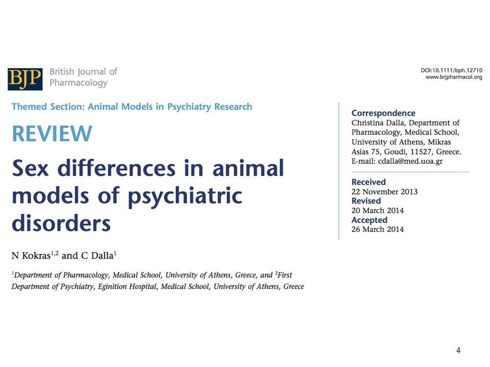 Οι γυναίκες πάσχουν πιο συχνά από τους άνδρες από νευροψυχιατρικές διαταραχές ECNP/ECB report 2010 5