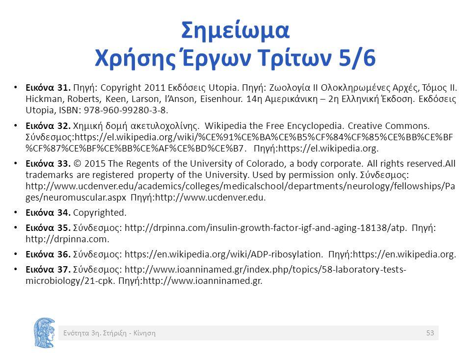 Σημείωμα Χρήσης Έργων Τρίτων 5/6 Εικόνα 31. Πηγή: Copyright 2011 Eκδόσεις Utopia.