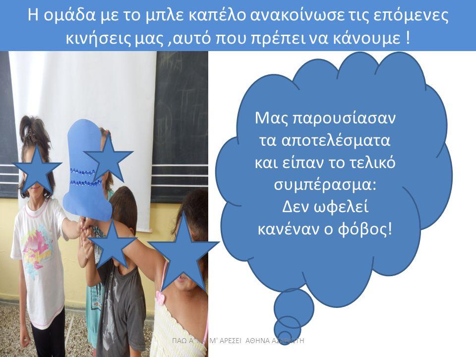 Η ομάδα με το μπλε καπέλο ανακοίνωσε τις επόμενες κινήσεις μας,αυτό που πρέπει να κάνουμε .