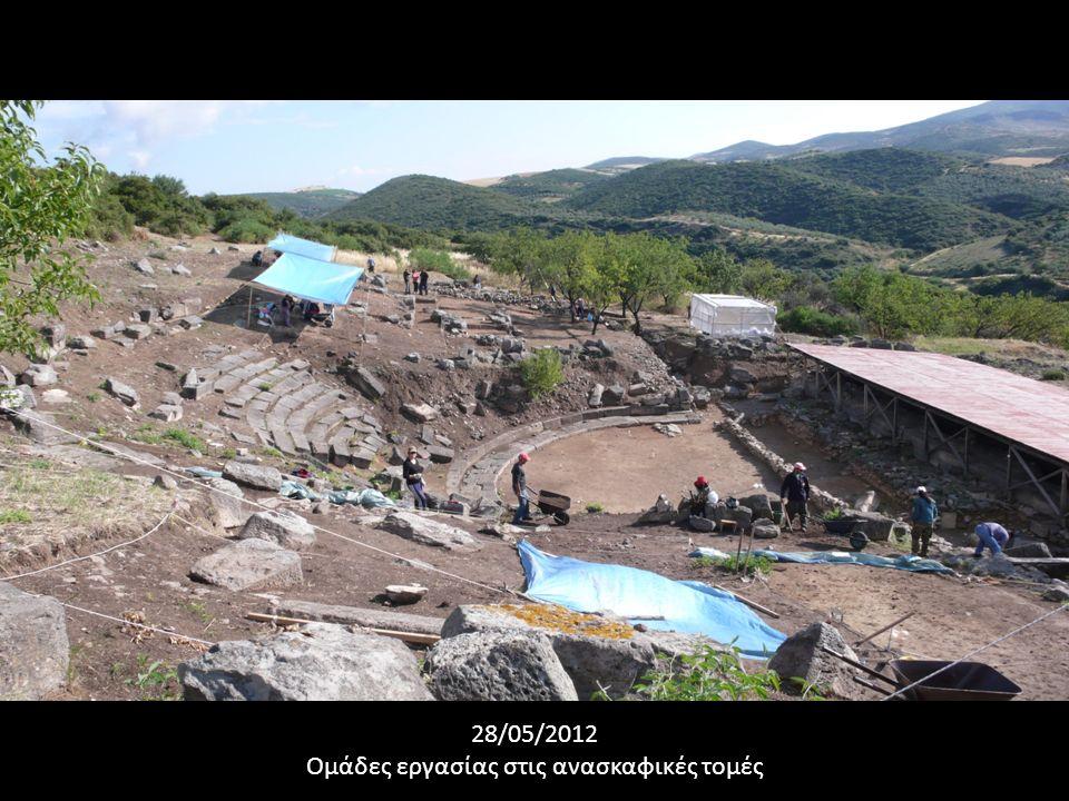 28/05/2012 Ομάδες εργασίας στις ανασκαφικές τομές