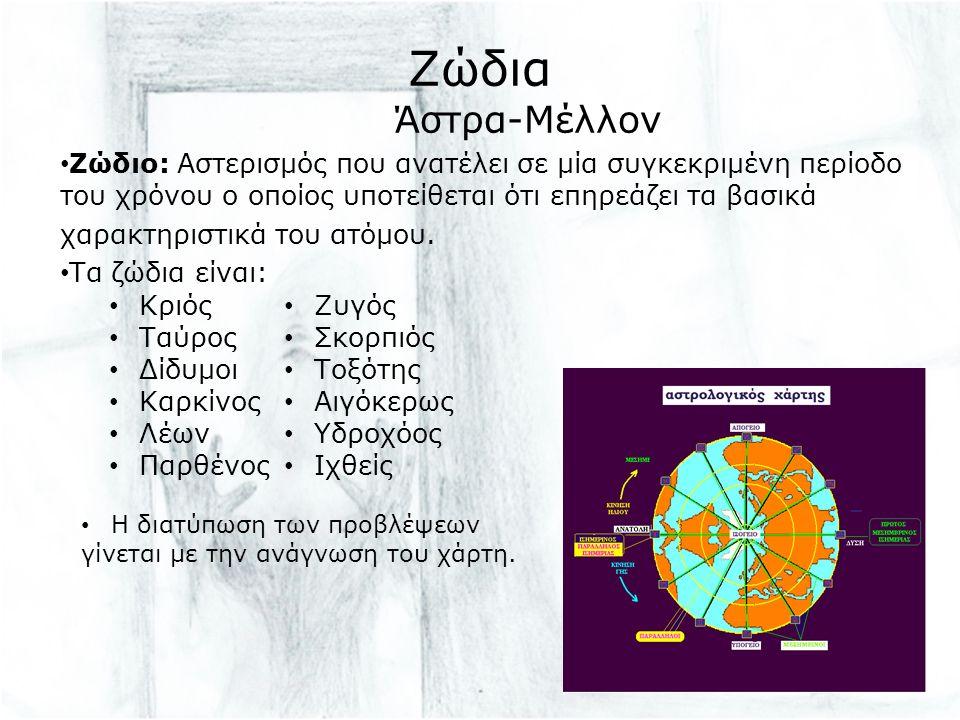 Ζώδια Άστρα-Μέλλον Ζώδιο: Αστερισμός που ανατέλει σε μία συγκεκριμένη περίοδο του χρόνου ο οποίος υποτείθεται ότι επηρεάζει τα βασικά χαρακτηριστικά του ατόμου.