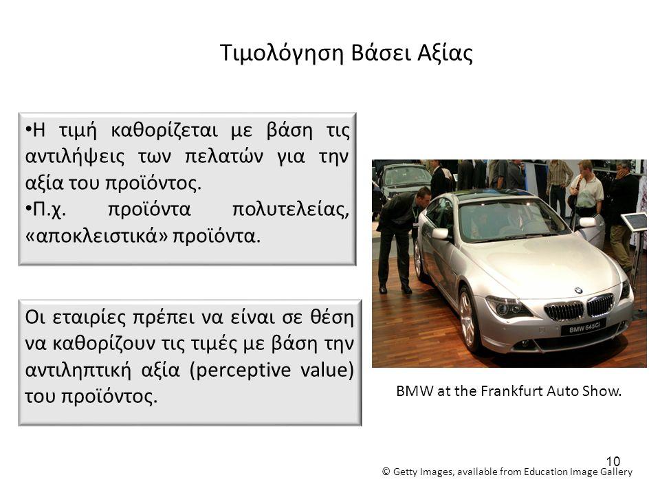 Τιμολόγηση Βάσει Αξίας Οι εταιρίες πρέπει να είναι σε θέση να καθορίζουν τις τιμές με βάση την αντιληπτική αξία (perceptive value) του προϊόντος.