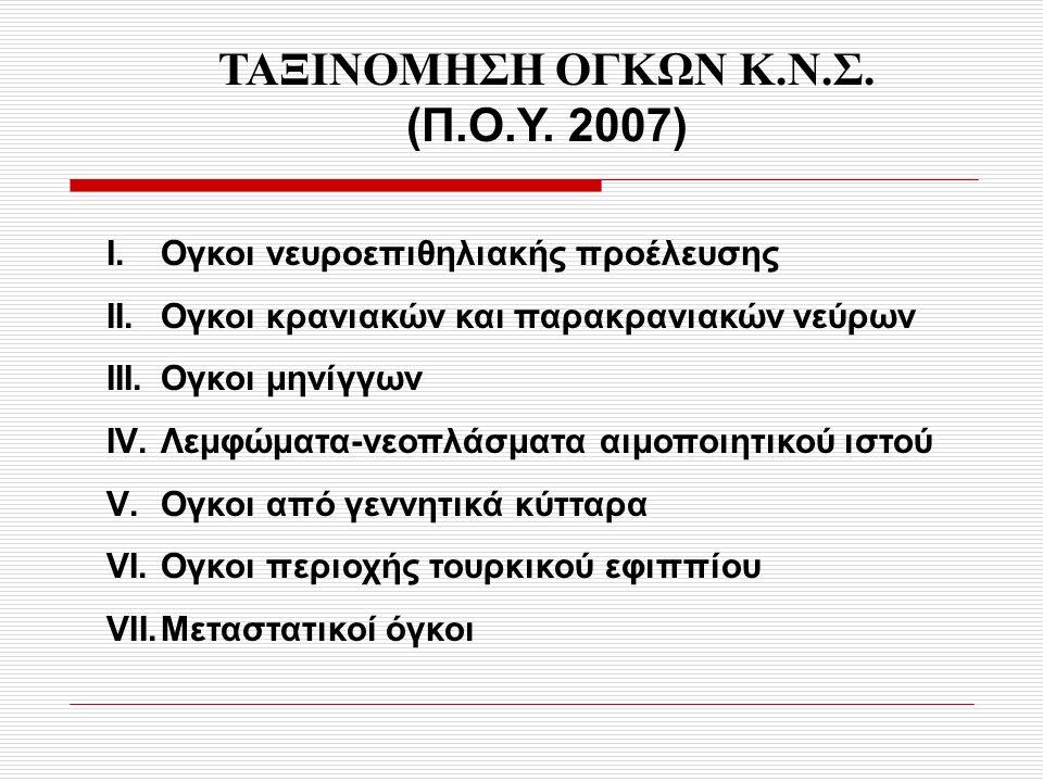 ΤΑΞΙΝΟΜΗΣΗ ΟΓΚΩΝ Κ.Ν.Σ.(Π.Ο.Υ. 2007) Ι.